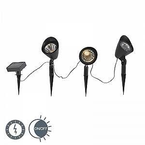 Qazqa Spot Sunshine LEDà l énergie solaire set de 3 IP44
