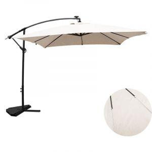 Concept-Usine Solenzara Néon écru : parasol LED déporté 3x3m