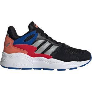 Adidas Crazychaos J, Chaussure de Course Mixte Enfant, Noir Noir/Argent Mat/Bleu Royal Équipe, 38 2/3 EU