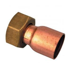Douille droite à joint plat filetage 20x27mm - Vendu par 1