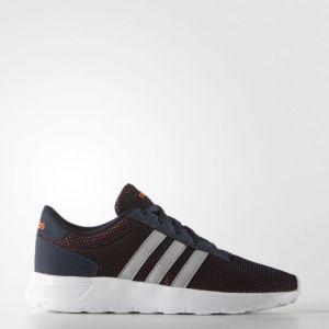 Adidas Lite Racer K, Chaussures de Sport Mixte Enfant - Multicolore (Noir/Blanc/Orange) - 38 2/3 EU