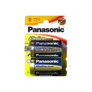 Panasonic 2 piles alcalines D LR20 Power