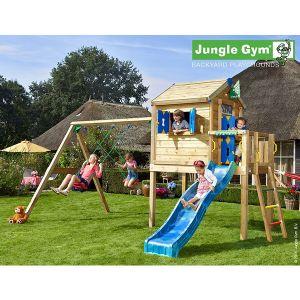 Jungle Gym JAMBALI - Aire de jeux avec Maisonnette - 9 enfants