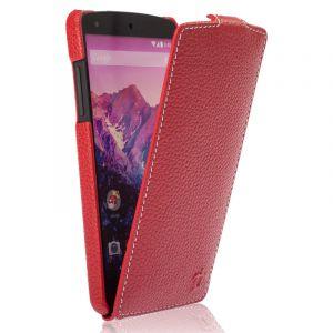 Issentiel Housse pour Google Nexus 5 Cuir Rouge Grainé