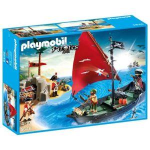 Playmobil 5646 Pirates - Chaloupe et île au trésor