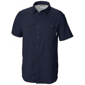 Columbia Utilizer Ii Solid Ss Shirt Collegiate Navy
