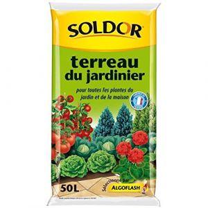 Soldor Terreau du Jardinier pour toutesLes plantes du jardin et de la maison - 50L - Terreau pour le jardinage intérieur et extérieur : plantations, rempotages en balconnières - 50L.