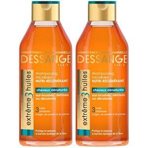 Jacques Dessange Extrême 3 Huiles Shampooing Micellaire Nutri-Régénérant Pour Cheveux Dénaturés - 250 ml