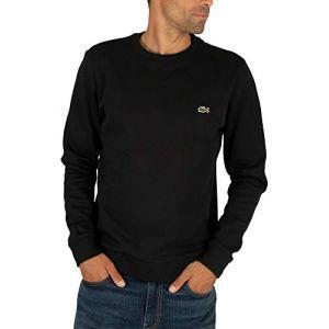Lacoste Homme Sweat-Shirt à Logo, Noir, L