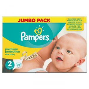 Pampers New Baby taille 2 Mini 3-6 kg - Jumbo Pack 70 couches