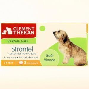 Image de Clément Thékan Strantel - Vermifuge pour chien goût viande (2 comprimés)