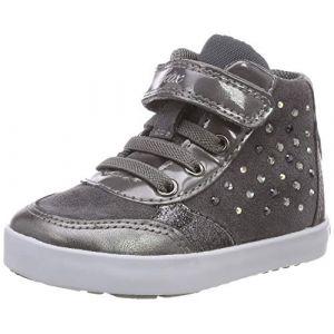 Geox B Kilwi B, Sneakers Basses Bébé Fille, Gris (DK Grey C9002), 23 EU