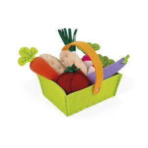 Janod Panier de 8 légumes en tissu