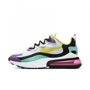 Nike Chaussure Air Max 270 React (Geometric Abstract) Homme - Blanc - Taille 42.5 - Male