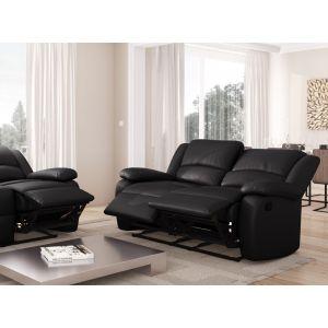 Groupon Goods Relax : Canapé de relaxation 2 places / simili noir