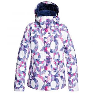 Roxy Jetty-Veste de Ski/Snowboard pour Femme, Bright White Famous Alphabet, FR : L (Taille Fabricant : L)