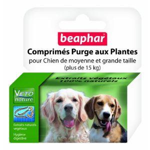 Beaphar Comprimés purge aux plantes pour moyens et grands chiens (+ de 15 kg)