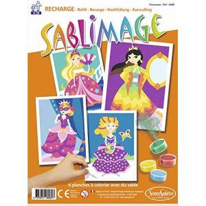 Sentosphère Sablimage - Recharge de 4 planches : Princesses