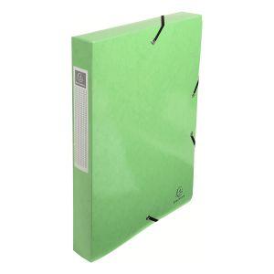 Exacompta 59923E - Boîte de classement carte IDERAMA, dos de 40, coloris vert anis