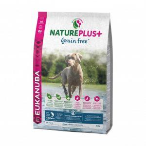 Eukanuba Natureplus - Croquettes sans céréales Grain Free saumon pour chiot et chien junior - Sac 2,3 kg