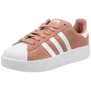 Adidas Superstar Bold, Baskets Femme, Rose (Ash Pink/Footwear White/Gold Metallic 0), 39 1/3 EU