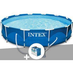 Intex Kit piscine tubulaire Metal Frame ronde 3,66 x 0,76 m + Bâche à bulles