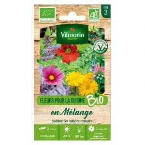 Vilmorin Sachet de graines Fleurs pour la cuisine en Mélange BIO