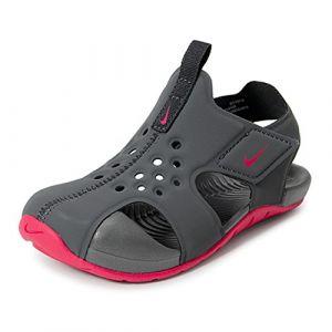 Nike Sunray Protect 2 (TD), Sandales de Sport Mixte Enfant, Multicolore (Anthracite/Rush Pink 001), 26 EU