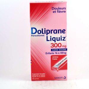 Sanofi Doliprane Liquiz 300 mg - 12 suspensions buvables