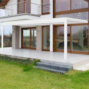 Pergola aluminium adossée 18 m² Cadix blanche