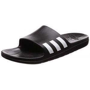 Adidas Aqualette, Chaussures de Plage et Piscine Homme, Noir (Negbás/Ftwbla 000), 44 2/3 EU