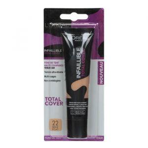 L'Oréal Infaillible Fluide Total Cover - Fond de teint 22 Beige Eclat 35 ml