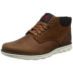 Image de Timberland Bradstreet Leather Sensorflex, Bottes Chukka Homme, Marron (Red Brown FG), 44 EU