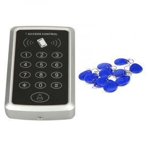 WeWoo Système de contrôle d accès de porte simple de X3 RFID avec le clavier et 10 porte-clés de jeton de carte d identification, support de mot de passe lecteur de d EM
