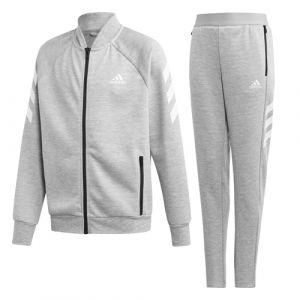 Adidas YB XFG TS Survêtement Garçon, Medium Grey Heather/White, FR : M (Taille Fabricant : 910Y)