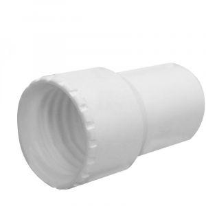 Linxor Embout en PVC pour tuyau flottant de piscine - Diam 38 mm - Blanc