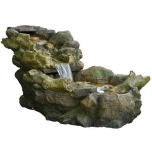 Ubbink Fontaine de jardin chute d'eau Aspen à éclairage LED avec pompe
