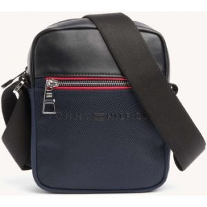 Tommy Hilfiger Urban Novelty Mini Reporter, Sacs portés épaule homme, Bleu (Tommy Navy/Black), 6x21x16 cm (B x H T)