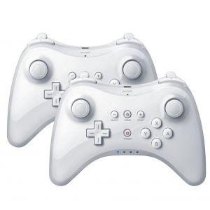 Qumox 2x Gamepad pour Nintendo Wii U - Blanc