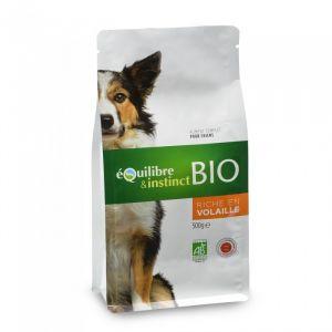 Equilibre & instinct Croquettes BIO de viandes fraîches à la volaille pour chien 500g