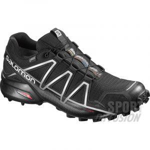 Salomon Homme Speedcross 4 GTX Chaussures de Trail Running, Imperméable, Noir (Black/Black/Silver Metallic -X), Taille: 42 2/3