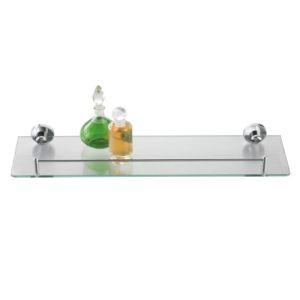 Axxentia Bad 282101 - Etagère de douche fond en verre et rebord (14 x 50 cm)