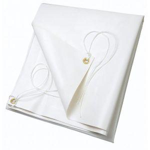 Ribimex Bâche blanche PVC 4x5 m 650 g/m2 -