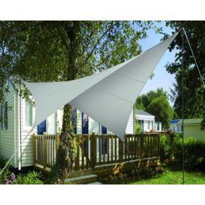 Image de Pegane Voile d'ombrage Carrée Taupe en Polyester 200g/m² anti-UV - Dim : 360 x 360 cm