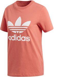 Adidas Trefoil T-shirt Femmes rouge T. 40