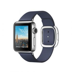 Apple Watch 38 mm séries 2 - Boîtier Acier Boucle moderne (Bleu Nuit)