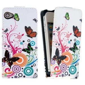 Kwmobile 14185 - Etui en cuir chic motif Fleurs pour Apple iPhone 4 et 4S