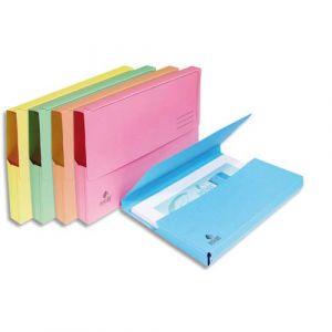 Exacompta 46770E - Paquet de 50 chemises poches SUPER, coloris pastels assortis 5 teintes