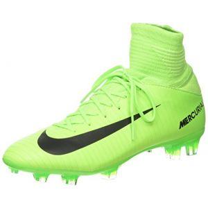 Nike Mercurial Superfly V, Chaussures de Football Entrainement Mixte Enfant, Vert (Electric Green/Black-Flash Lime-White), 36.5 EU