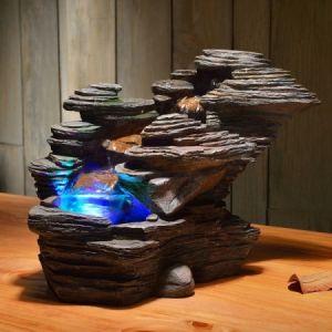 Zen Light SCFR132 - Fontaine décoratrice d'intérieur Nature River